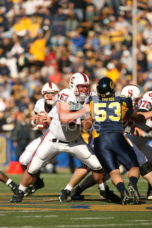 2 December 2006: Chris Marinelli during Stanford's 26-17 loss to Cal in the 109th Big Game at Memorial Stadium in Berkeley, CA.