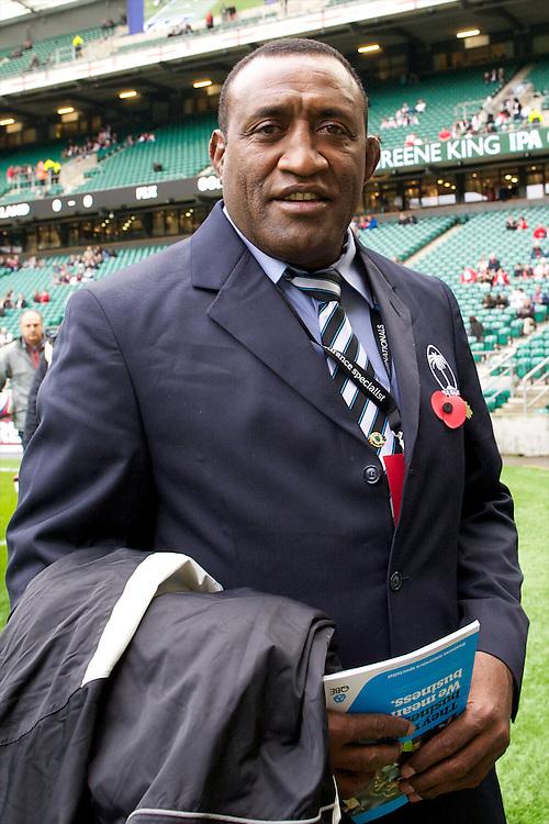 Inoke Male, Head Coach of the Flying Fijians, before the QBE International between England and Fiji at Twickenham on Saturday 10th November 2012 (Photo by Rob Munro)