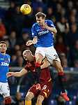 11.11.18 Rangers v Motherwell: Gareth McAuley and Curtis Main