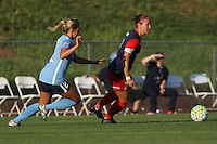 Piscataway, NJ - Saturday July 23, 2016: Shawna Gordon, Christine Nairn during a regular season National Women's Soccer League (NWSL) match between Sky Blue FC and the Washington Spirit at Yurcak Field.