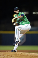 Gwinnett Stripers relief pitcher Chad Sobotka (40) in action against the Scranton/Wilkes-Barre RailRiders at BB&T BallPark on August 16, 2019 in Lawrenceville, Georgia. The Stripers defeated the RailRiders 5-2. (Brian Westerholt/Four Seam Images)