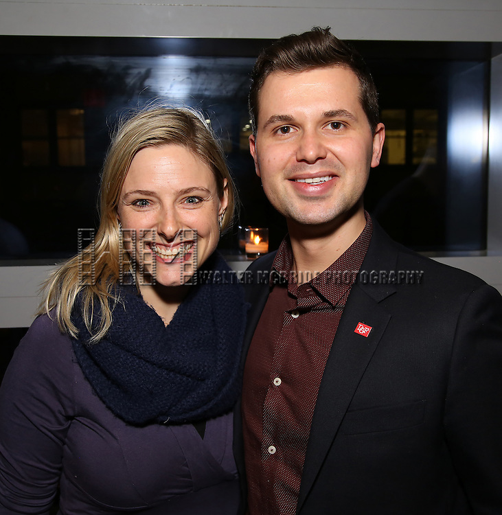 Laura Heywood and Seth Cotterman attend the DGF Reception for Andrew Lippa & Friends at Landmarc on February 1, 2017 in New York City.