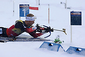 17th March 2019, Ostersund, Sweden; IBU World Championships Biathlon, day 9, mass start men; Johannes Thingens Boe (NOR) at the shooting range