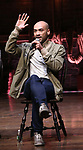 """Jevon McFerrin from the 'Hamilton' cast during a Q & A before The Rockefeller Foundation and The Gilder Lehrman Institute of American History sponsored High School student #EduHam matinee performance of """"Hamilton"""" at the Richard Rodgers Theatre on October 25, 2017 in New York City."""