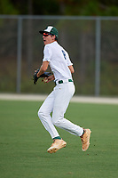 Clayton Moore (8) during the WWBA World Championship at the Roger Dean Complex on October 10, 2019 in Jupiter, Florida.  Clayton Moore attends Jupiter Christian High School in Tequesta, FL and is committed to Wheaton College.  (Mike Janes/Four Seam Images)