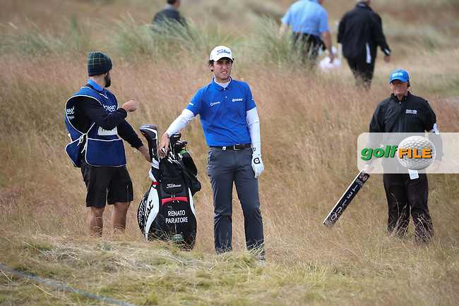 Renato Paratore (ITA) during Round Three of the 2016 Aberdeen Asset Management Scottish Open, played at Castle Stuart Golf Club, Inverness, Scotland. 09/07/2016. Picture: David Lloyd | Golffile.<br /> <br /> All photos usage must carry mandatory copyright credit (&copy; Golffile | David Lloyd)
