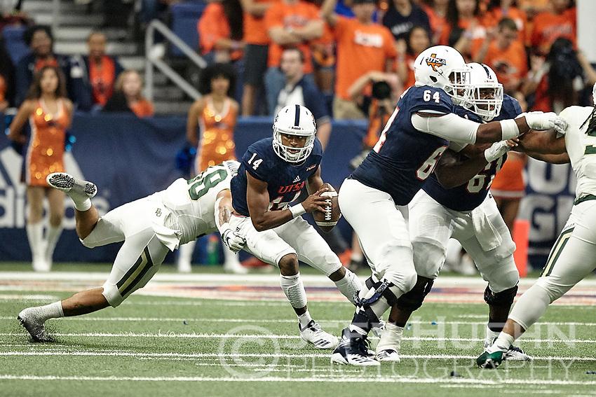 SAN ANTONIO, TX - SEPTEMBER 8, 2018: The University of Texas at San Antonio Roadrunners fall to the Baylor University Bears 37-20 at the Alamodome. (Photo by Jeff Huehn)