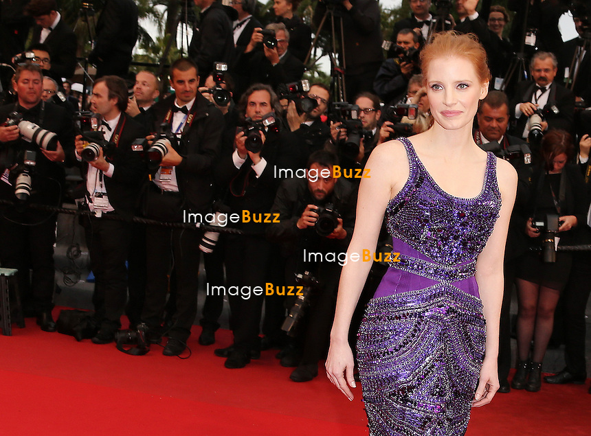 """Jessica Chastain attends the """" All Is Lost """" Premiere during the 66th Annual Cannes Film Festival at Palais des Festivals on May 22, 2013 in Cannes, France."""