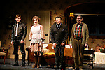 Curtain Call for The Opening Night Performance of The Roundabout Theatre Company's Production of  ENTERTAINING MR. SLOANE at the Laura Pels Theatre in New York City..The Play stars Alec Baldwin, Chris Carmack, Richard Easton & Jan Maxwell..March 16, 2006.© Walter McBride /