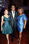 B Michael poses with Jean Shafiroff and Mary Wilson - Supremes - Mistress of Ceremonies who are wearing his designed dresses at 10th Annual Gala celebrating Figure Skating in Harlem's 18th year of operations at The Stars 2015 Benefit Gala on April 13, 2015 in New York City, New York honoring Olympic Champion Evan Lysacek, Gloria Steinem and Nicole, Alana and Juliette Feld with Mary Wilson as Mistress of Ceremony. (Photos by Sue Coflin/Max Photos)