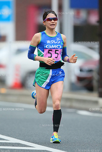 Miho Shimizu, <br /> FEBRUARY 14, 2016 - Marathon : <br /> All Japan Industrial Half Marathon <br /> in Yamaguchi, Japan. <br /> (Photo by YUTAKA/AFLO SPORT)