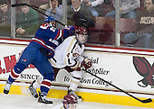 Scott Wilson (UML - 23), Teddy Doherty (BC - 4) - The University of Massachusetts Lowell River Hawks defeated the Boston College Eagles 4-2 (EN) on Tuesday, February 26, 2013, at Kelley Rink in Conte Forum in Chestnut Hill, Massachusetts.