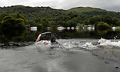 Seven members of the Royal Navy First Mine Countermeasures Squadron - from HM Naval Base Clyde - took part in a 22 mile swim of Loch Lomond in support of the Canine Partners Charity. Swimmers completed relay sections between Ardlui and Balloch - pics show Lt Cmdr Simon Kelly - Picture by Donald MacLeod - 01.09.11 - 07702 319 738 - www.donald-macleod.com
