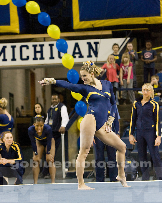 2/19/10 2010 Women's Gymnastics vs. Utah at Crisler Arena.