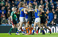 Picture by Allan McKenzie/SWpix.com - 23/03/2018 - Rugby League - Betfred Super League - Leeds Rhinos v Castleford Tigers - Elland Road, Leeds, England - Anthony Mullally and Mike McMeeken get into a fight onfield.
