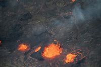 May 2018: Kilauea Volcano eruption in Leilani Estates, Puna, Big Island of Hawai'i.