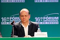 FOZ DO IGUA&Ccedil;U, PR, 21.04.2017 &ndash; LIDE - 16&ordm; F&oacute;rum Empresarial Foz do Igua&ccedil;u<br />  &ndash;   Ricardo Barros, ministro da Sa&uacute;de, durante o 16&ordm; F&oacute;rum Empresarial Foz do Igua&ccedil;u, na manh&atilde; desta sexta-feira (21). (Foto: Paulo Lisboa/Brazil Photo Press)