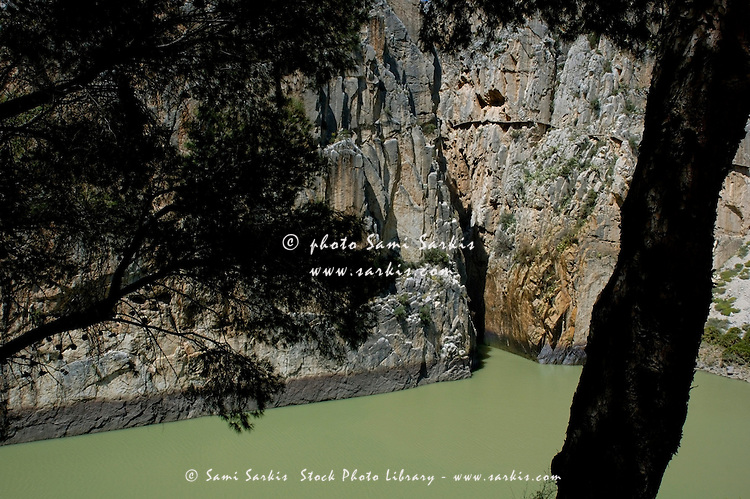 Cliffs at El Chorro, a limestone gorge in Andalusia, Spain.