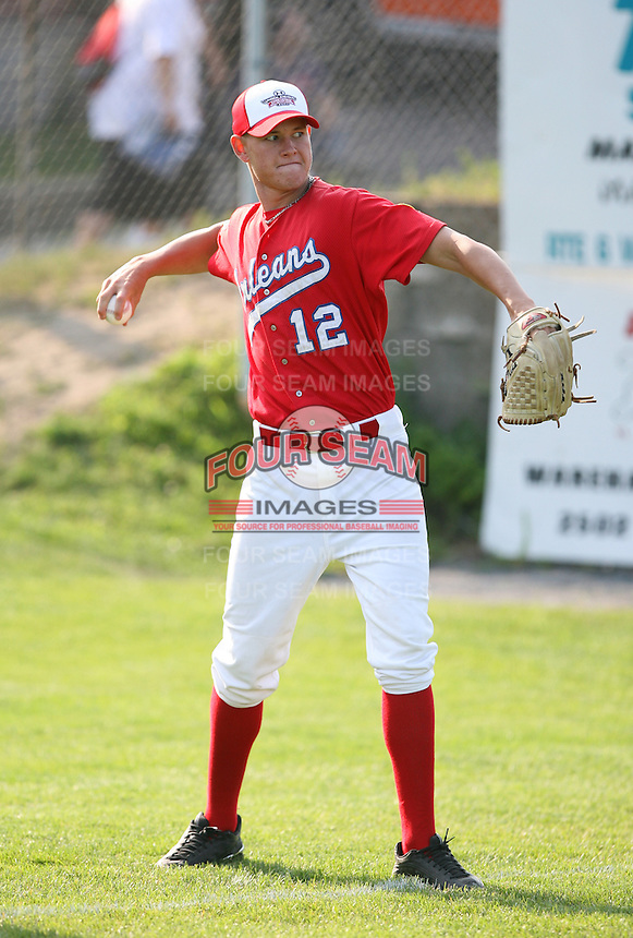 July 28th 2007:  Ryan Perry during the Cape Cod League All-Star Game at Spillane Field in Wareham, MA.  Photo by Mike Janes/Four Seam Images