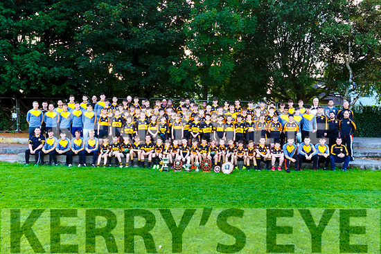 Marking Austin Stacks centennial year Picture of Under 10-16 and minors  county final winners with Mentors
