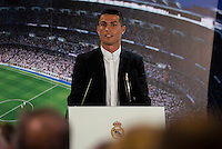 Soccer player Cristiano Ronaldo renews his contract with Real Madrid until 2021 at Santiago Bernabeu Stadium in Madrid. November , 2016. (ALTERPHOTOS/Borja B.Hojas) ///NORTEPHOTO.COM