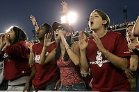 16 September 2006: The student fan Red Zone section during Stanford's 37-9 loss to Navy during the grand opening of the new Stanford Stadium in Stanford, CA.