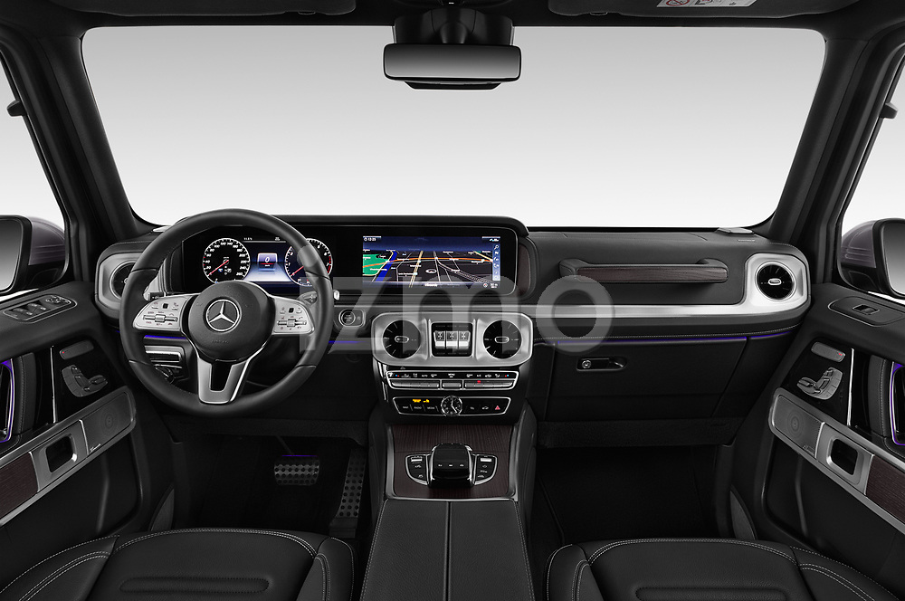 Stock photo of straight dashboard view of 2019 Mercedes Benz G-Class Base 5 Door SUV Dashboard