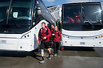 HOUSTON, TX - DECEMBER 11:  Tanner Beason (3) of Stanford University get's off the bus before the Division I Men's Soccer Championship held at the BBVA Compass Stadium on December 11, 2016 in Houston, Texas.  Stanford defeated Wake Forest 1-0 in a penalty shootout for the national title. (Photo by Justin Tafoya/NCAA Photos via Getty Images)