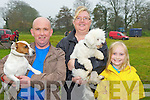 Morgan, Pauline and Saoirse Lyne, Kells, Caherciveen with their dogs at Castlemaine Vintage Rally on Sunday..