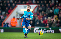 Shkodran Mustafi of Arsenal during the Premier League match between Bournemouth and Arsenal at the Goldsands Stadium, Bournemouth, England on 14 January 2018. Photo by Andy Rowland.