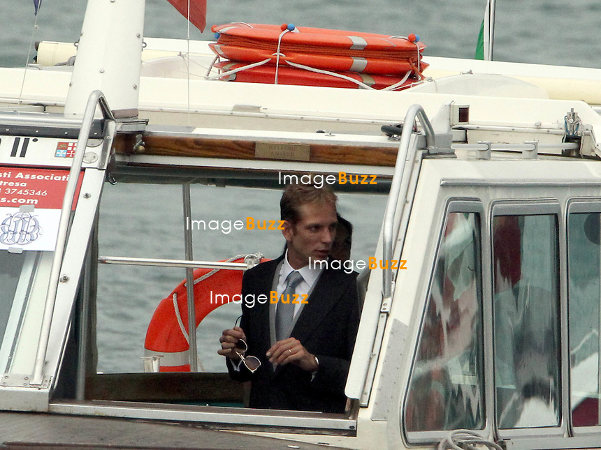 Arrival of the guests of the marriage of Pierre and B&eacute;atrice<br /> <br /> Andrea Casiraghi