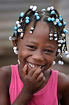 A girl in Batey Bombita, a community in the southwest of the Dominican Republic whose population is composed of Haitian immigrants and their descendents.