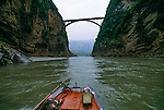 boat ride on the Daning River, Lesser Three Gorges in rural China, Asia
