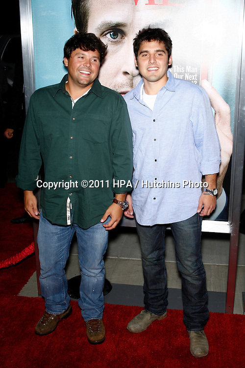 """LOS ANGELES - SEPT 27:  Todd Thompson; Tyler Thompson arriving at  the """"The Ides Of March"""" LA Premiere at the Academy of Motion Picture Arts and Sciences on September 27, 2011 in Beverly Hills, CA"""