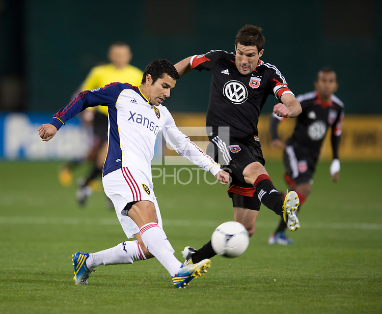 Tony Beltran, Chris Pontius.  D.C. United defeated Real Salt Lake, 1-0, at RFK Stadium.
