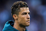 Cristiano Ronaldo of Real Madrid looks on prior to the UEFA Champions League Semi-final 2nd leg match between Real Madrid and Bayern Munich at the Estadio Santiago Bernabeu on May 01 2018 in Madrid, Spain. Photo by Diego Souto / Power Sport Images