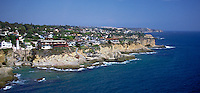Luguna CA, Aerial, Rocky  Coast Home's, Waterfront, Luxury Home's Cliffs, Bluffs, Ocean, Waves