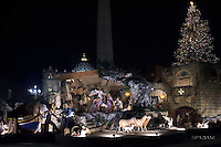 Nativity scene in St Peter's square at the Vatican.December 13, 2016.