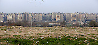 Photographer: Rick Findler/Borderline News..18.01.13 A view of a district in the city of Aleppo, Northern Syria.