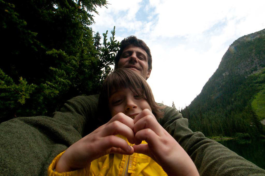 Roddy and Eliza at Rainy Lake, North Cascades National Park, Washington, US