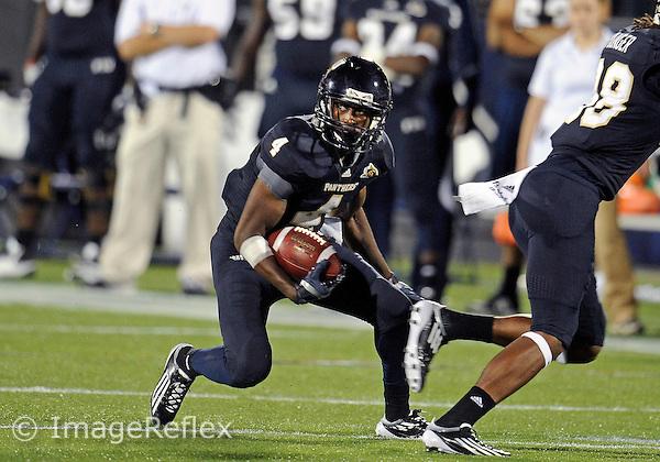 Florida International University football player wide receiver T.Y. Hilton (4) plays against the Florida Atlantic University on November 12, 2011 at Miami, Florida. FIU won the game 41-7. .