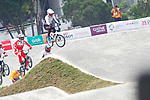 Yoshitaku Nagasako (JPN), <br /> AUGUST 25, 2018 - Cycling - BMX : <br /> Men's BMX Race Final <br /> at Pulo Mas International BMX Center <br /> during the 2018 Jakarta Palembang Asian Games <br /> in Jakarta, Indonesia. <br /> (Photo by Naoki Morita/AFLO SPORT)