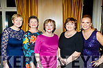L-R Kathy Stack, Lil Hanafin, Nora Casey, Bridie Byrne&Martina Bradley at the Bon Secure hospital, Tralee Foundation night in the Ballygarry House Hotel, Tralee last Friday.