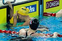 Ariarne Titum (L) of Australia, Gold Medal, Femke Heemskerk of Netherlands Bronze Medal <br /> Women's 200m Freestyle <br /> Hanghzhou 11/12/2018 <br /> Hangzhou Olympic & International Expo Center <br /> 14th Fina World Swimming Championships 25m <br /> Photo Andrea Staccioli/ Deepbluemedia /Insidefoto