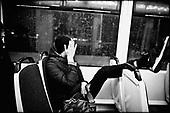 Wroclaw 01.2010 Poland<br /> Drunk transsexual Marina Till in the tram.<br /> Marina Till, a transsexual, has had numerous medical examinations and treatments, such as a very intense hormonal therapy, at times seriously weakening her organism. For a long time she has been dreaming  about a sex change surgery that she can not afford. She does not accept herself and her body. Frequent suicide attempts and alcohol abuse, are means of escape from the body she lives in. A body that does not belong to her.<br /> Photo: Adam Lach / Napo Images<br /> <br /> Pijany transseksualista Marina Till w tramwaju.<br /> Transseksualista Marina Till przeszla juz setki kuracji hormonalnych i badan psychoterapeutycznych, ktore w znaczny sposob wycienczyly jej organizm. Od wielu lat marzy o zmianie plci lecz najzwyczajniej nie stac ja na zbyt kosztowna operacje. Nie akceptuje siebie, nie akceptuje swojego ciala. Czeste proby samobojcze i znaczne ilosci alkoholu sa dla niej sposobem na ucieczke, przede wszystkim od swiadomosci ze cialo w ktorym zyje nie nalezy do niej.<br /> Fot: Adam Lach / Napo Images