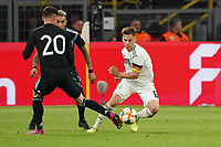 Joshua Kimmich (Deutschland Germany) gegen Lucas Alario (Argentinien, Argentina) - 09.10.2019: Deutschland vs. Argentinien, Signal Iduna Park, Freunschaftsspiel<br /> DISCLAIMER: DFB regulations prohibit any use of photographs as image sequences and/or quasi-video.