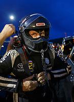 Jul 21, 2017; Morrison, CO, USA; NHRA funny car driver Del Worsham during qualifying for the Mile High Nationals at Bandimere Speedway. Mandatory Credit: Mark J. Rebilas-USA TODAY Sports