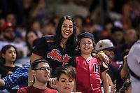Mayra Escalante y Aryam Escalante aficionadas de Naranjeros, durante partido3 de beisbol entre Naranjeros de Hermosillo vs Mayos de Navojoa. Temporada 2016 2017 de la Liga Mexicana del Pacifico.<br /> © Foto: LuisGutierrez/NORTEPHOTO.COM