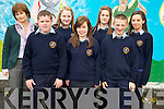 Recipients of the Junior Enterprise Award at the Scoil Phobail Sliabh Luachra, Rathmore, awards ceremony on Thursday were Tim Murphy, Claire Smyth, Elaine O'Keeffe, Eimear O'Keeffe, Anthony Nagle and Ciara O'Connell with teacher Mary Woods. ............................................................................