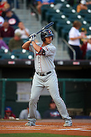 Pawtucket Red Sox third baseman Carlos Rivero (33) at bat during a game against the Buffalo Bisons on August 28, 2015 at Coca-Cola Field in Buffalo, New York.  Pawtucket defeated Buffalo 7-6.  (Mike Janes/Four Seam Images)